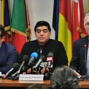 Maradona e Rivellini al Parlamento Europeo