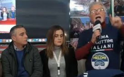 """Rivellini: """"Giorgia Meloni, Fratelli d'Italia ed io manteniamo gli impegni. E i marittimi italiani ci ringraziano"""""""