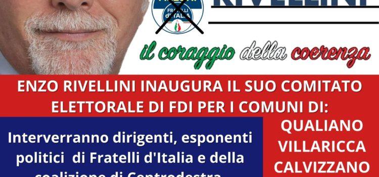 """Elezioni Campania, Rivellini (FdI): """"Domani inaugurazione comitato elettorale e Villaricca"""""""
