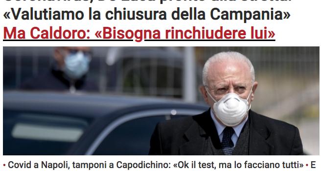 """Lockdown in Campania, Rivellini (FdI): """"De Luca basta allarmismi sul Covid, così distruggi la nostra economia"""""""
